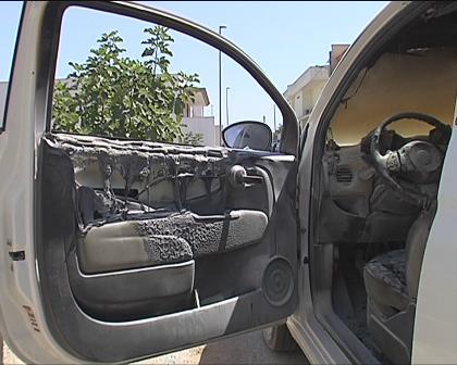 auto incendiata s.donato