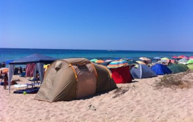 tende in spiaggia