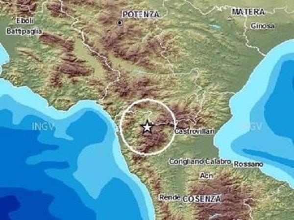 epicentro terremoto sul Pollino