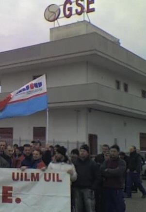 protesta operai GSE