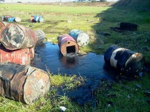 fusti rifiuti liquidi a Corigliano d'Otranto