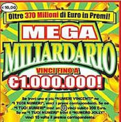 lotteria istantanea 'Mega Miliardario'