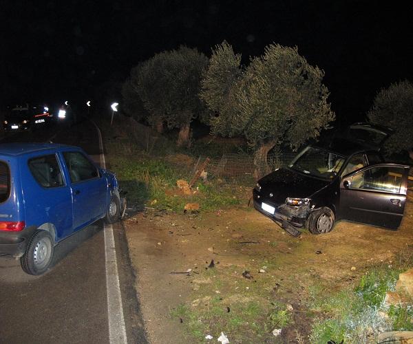 incidente sulla Carmiano-Novoli