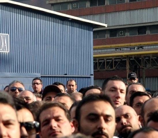 protesta  operai ILVA
