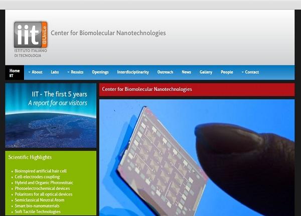 Center for biomolecular nanotechnologies