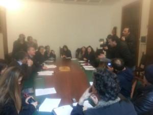 conferenza stampa a Palazzo Carafa