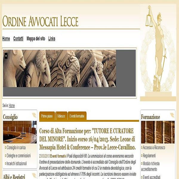 sito Ordine Avvocati Lecce