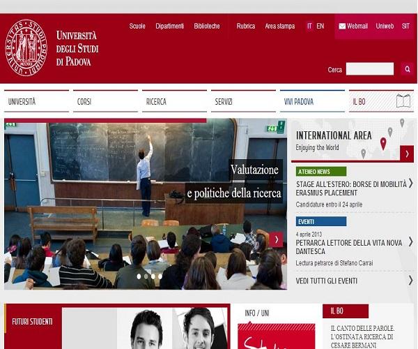 sito Università di Padova
