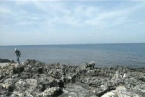 chiazza scura nel mare di Nardò