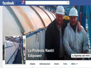 pagina FB protesta 'Edipower'