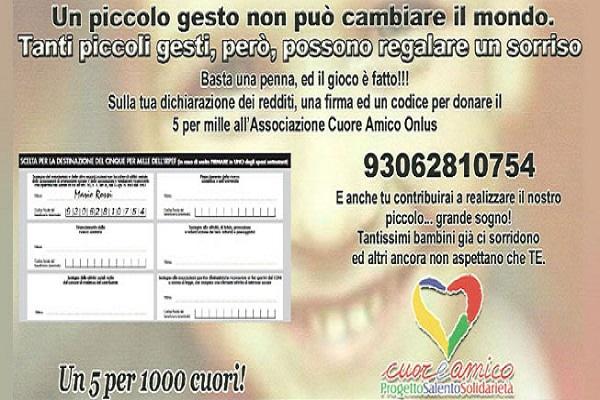 Cuore Amico - Un 5 per 1000 cuori!