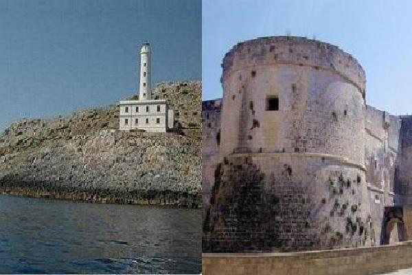 faro Palascìa e Castello Aragonese