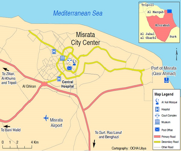 cartina Misurata in Libia