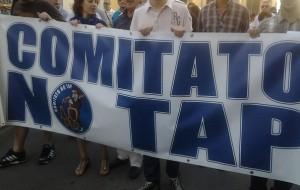 manifestazione NO TAP a Melendugno