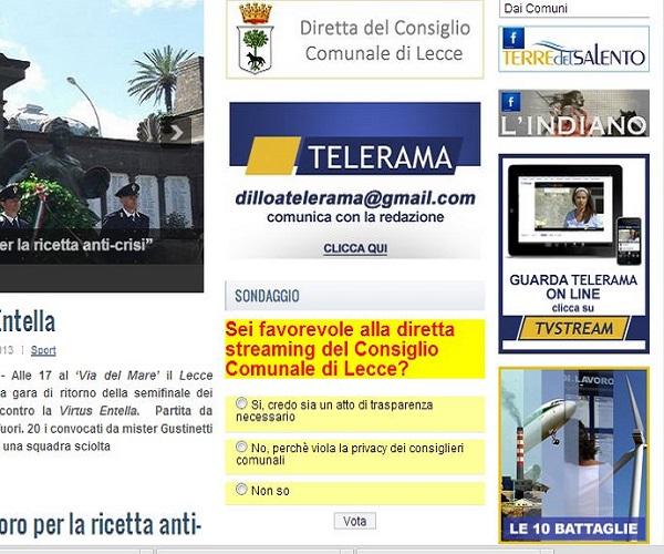 sondaggio su www.trnews.it