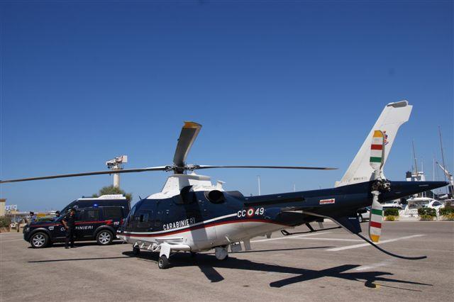 Elicottero 520n : Operazione spiagge sicure controlli sulla litoranea