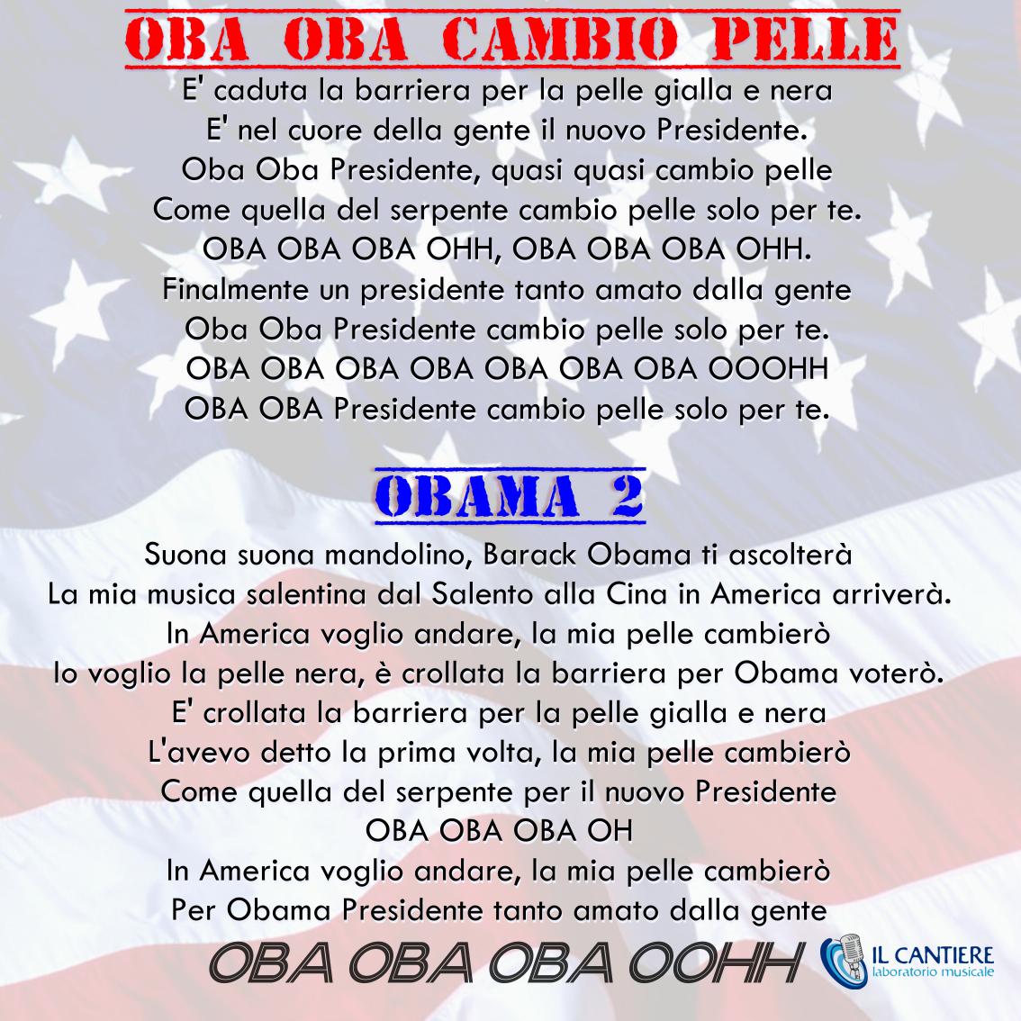 canzone obama