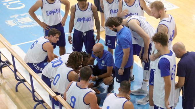 Time out New Basket Brindisi - foto M. De Virgiliis