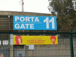 Intitolazione Curva Nord a Lorusso e Pezzella (foto M.Cassone)